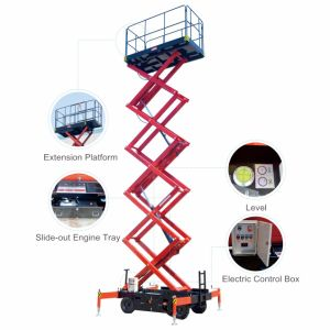 8m Mobile Scissor Lift for Aerial Working (15 Year′ Experience) pictures & photos