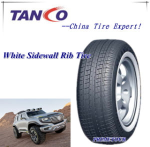 White Sidewall Rib Tire--155r13c, 185r14c, 195r14c, 195r15c pictures & photos
