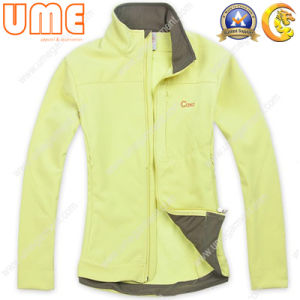 Women′s Waterproof Softshell, Bonded with Fleece Lining (UWWS08)