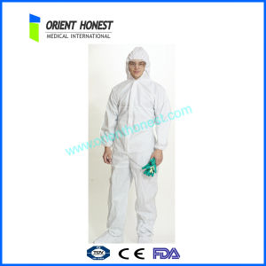 Eco-Friendly Non Woven Overalls for Men / White Disposable Coveralls