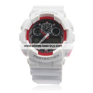 Black Dial Digital Alarm Watch Sport Wristwatch White