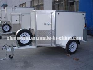 Single Axle Cargo Trailer With Barn Door (GW-BLV7) pictures & photos