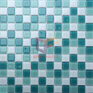 Green Glossy Crystal Glass Mosaic Tile for Bathroom (CFC154) pictures & photos