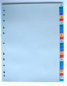 26 Pages Colored PP Index Divider With English Printed (BJ-9029) pictures & photos