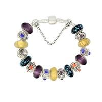 Silver Charm Bead Bracelet CC31