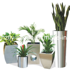 Fo-9027 Metal Flower Planter Pot Square Curvy Planter pictures & photos