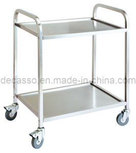 Stainless Steel Two Layers Liquor Service Trolley (DE35) pictures & photos