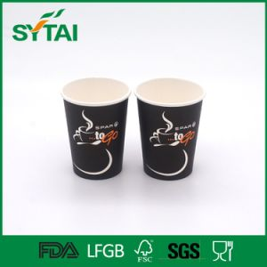 Wholesale Customized Orrugated Single Wall Paper Coffee Cup with Lid pictures & photos