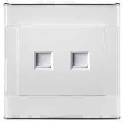 Telephone and Network Wall Socket
