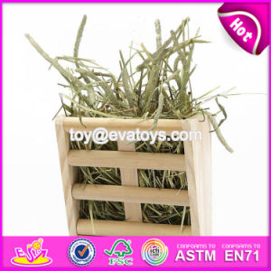 New Products Indoor Pet Accessories Nature Wooden Grass Shelf for Pet W06f024 pictures & photos