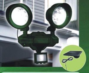 Plastic Conical Solar PIR Spot Light Twin Head