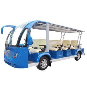 Solar Panel Utility Vehicle Electric Sightseeing Bus 11seat pictures & photos