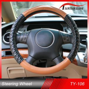 2014 Popular Design Sheepskin Auto Steering Wheel Cover. S/M/L Size