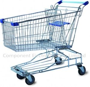 Asian Style 120L Volume Liter Shopping Trolley Supermarket Shopping Cart pictures & photos