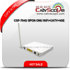 Catvscope FTTH Csp-704G Gpon ONU WiFi+CATV+4ge pictures & photos