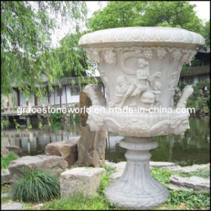 Carved Stone Planter, Garden Marble Flower Pot, Urn (GS-FL-004) pictures & photos