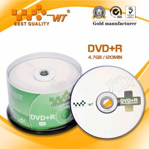 DVD+R 16x 120min with Capacity 4.7GB The Largest Blank Disc