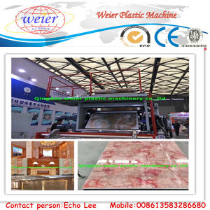 PVC Marble Sheet Extruding Machine with 10 Years Factory pictures & photos