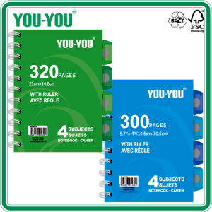 A4 Spiral Notebook with Dividers (OEM)