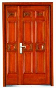 Double Steel Wooden Door (EWS037)