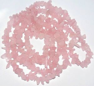 Rose Quartz Chip Stone Beads 36 Inch