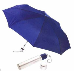 3-Section Polyester Sliver Coated Manual Open Umbrella