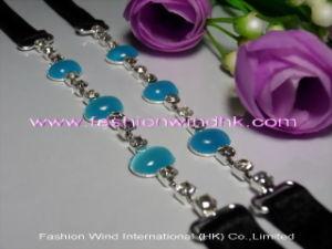 Fabric Bra Strap (FFW009) Elastic Bra Strap with Opal Ornament
