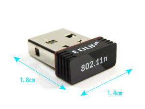 Nano 150Mbps 802.11b/G/N 1t1r Mini Wireless USB LAN Adapter