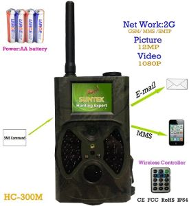 Infrared 12MP SMS Command GPRS MMS Hunting Trail Camera (HC300M)