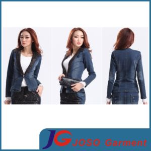 Black Lace Collar Women Jeans Suit Jeans Clothing (JC4069) pictures & photos