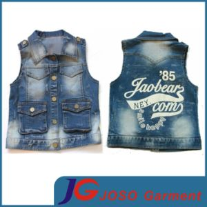 Factory Wholesale Kids Denim Vest (JT8016) pictures & photos