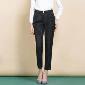 Custom Slim Fit Office Latest Design Long Pants for Women pictures & photos