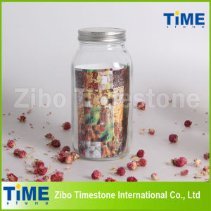 500ml Glass Mason Jar with Stainless Steel Lid pictures & photos