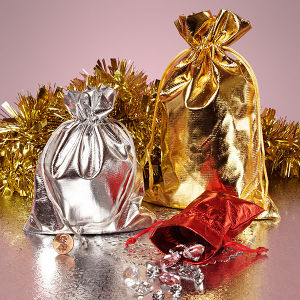 Luxury Metallic Lame Gift Bag Christmas Gift Bag pictures & photos