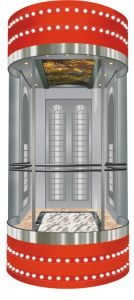 Mrl Traction Type Panoramic Elevator Without Machine Room pictures & photos