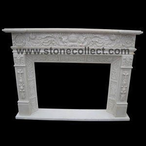 Natural Pure White Marble Mantel pictures & photos