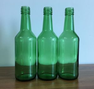 Green Color Fruit Juice Glass Bottle pictures & photos