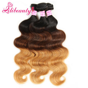 Mongolian Ombre Hair Weaves, Grade 8A Body Wave Human Hair pictures & photos