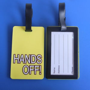 Cutom Hands off Soft PVC Rubber Luggage ID Tag (ASNY-LT-TM-014) pictures & photos