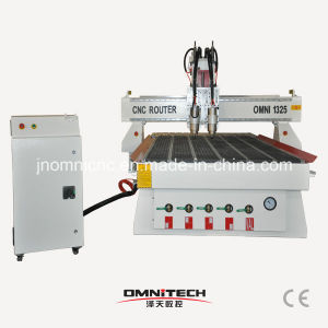 Pneumatic Tool Change CNC Router with 2/3/4 Spindles/Cutters