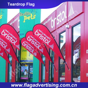 No MOQ Weatherproof Polyester Advertising Banner, Display Flag, Teardrop Fabric Banner