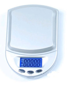 Backlight Jewelry Scale with Silver Color (XF-118) pictures & photos