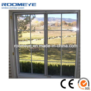 High Quality Double Glass Aluminium Sliding Window with Grill pictures & photos