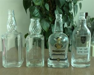 700ml/750ml/1L Custom Made Glass Liquor Bottle with Screen Printing pictures & photos