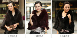 2015 Real Mink Fur Jacket with Muticolor pictures & photos