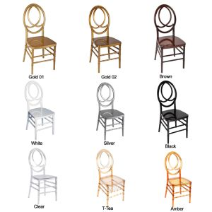 Gold Color PC Resin Infinitiy Phoenix Wedding Chair pictures & photos
