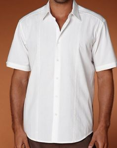 Elegant Guayabera Men White Shirt Shm-05 Free Size pictures & photos