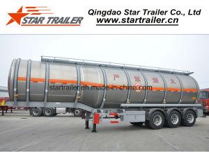 3 Axles Single Compartment Aluminum Alloy Fuel Tank Trailer pictures & photos