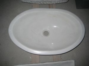 Chinese White Marble Wash Basin Sink for Bathroom pictures & photos