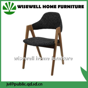 Solid Ash Wood Cafe Chair Leisure Dining Chair (W-DC-01) pictures & photos